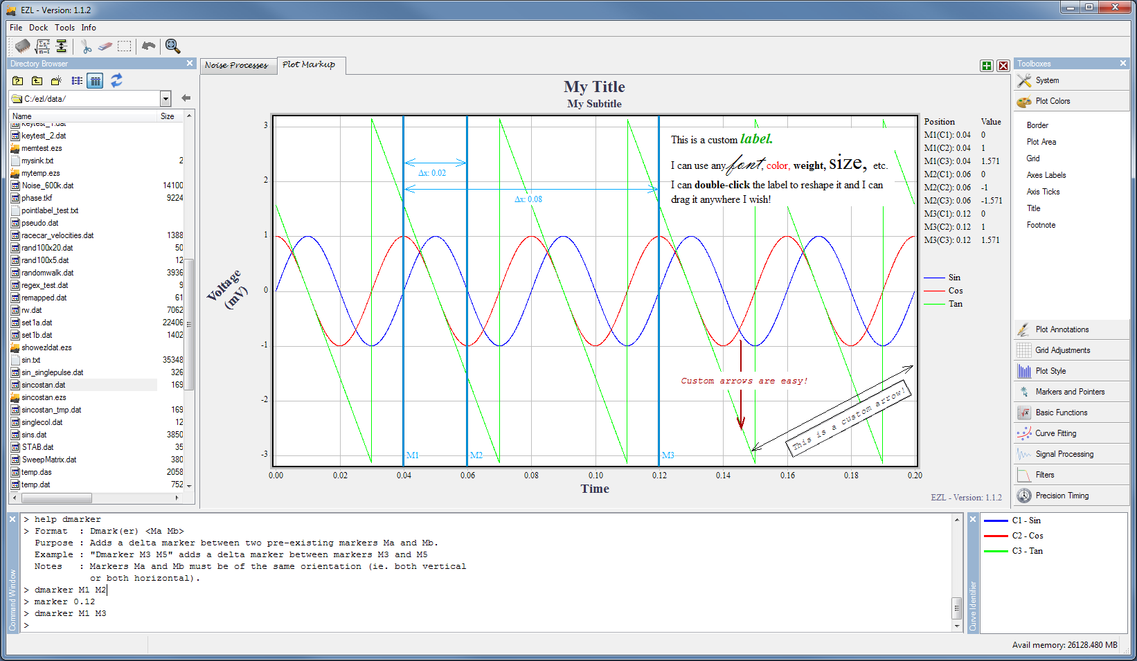Data Plotting and Graphing Software - EZL Software