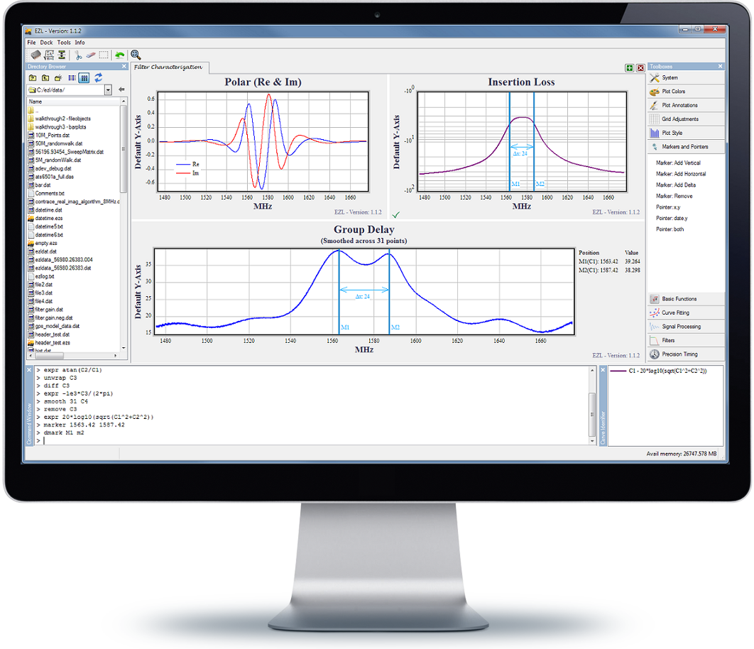 EZL Scientific Plotting Software