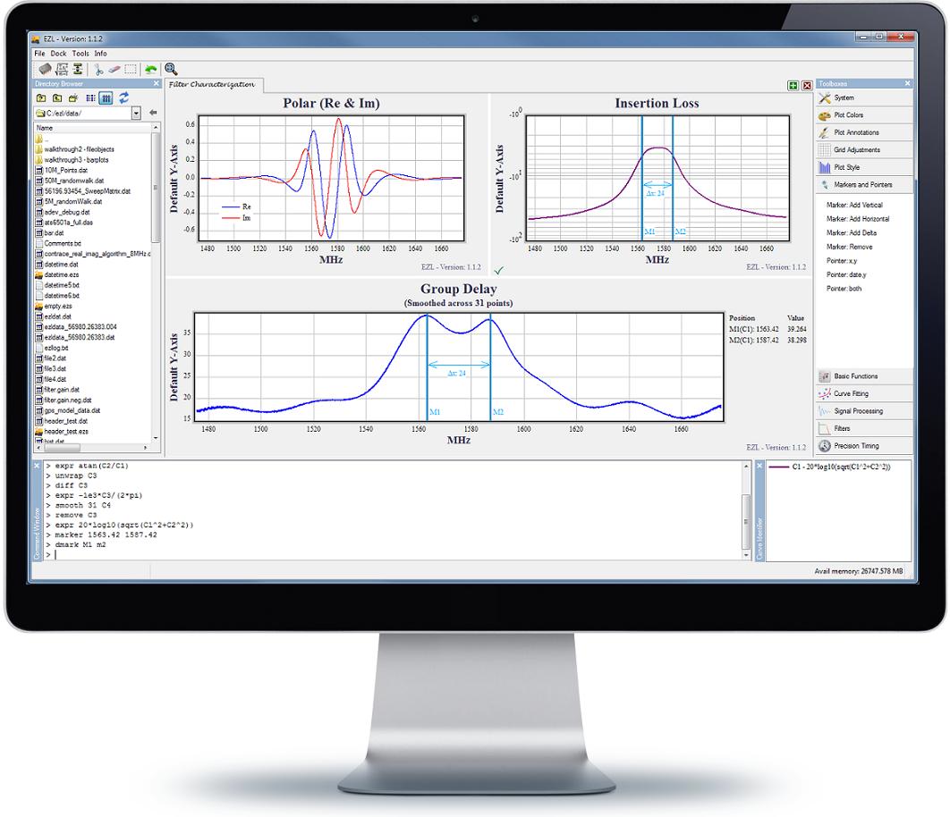 EZL Scientific Plotting Software